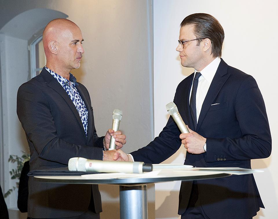 Micael Bindefeld och H.K.H. Prins Daniel