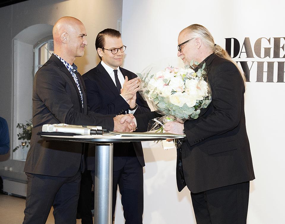 Micael Bindefeld, H.K.H. Prins Daniel och Örjan Henriksson