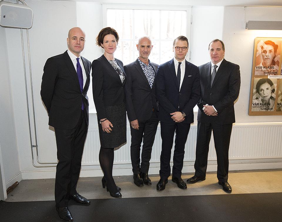 Fredrik Reinfeldt, Anna Kinberg Batra, Micael Bindefeld, H.K.H. Prins Daniel och Stefan Löfven