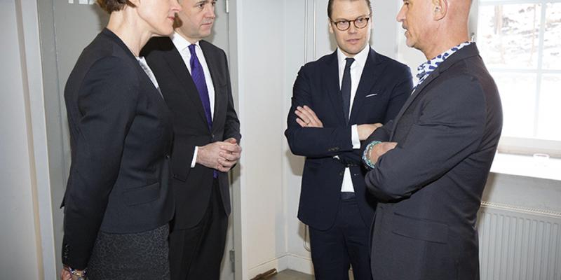 Anna Kinberg Batra, Fredrik Reinfeldt, H.K.H. Prins Daniel och Micael Bindefeld