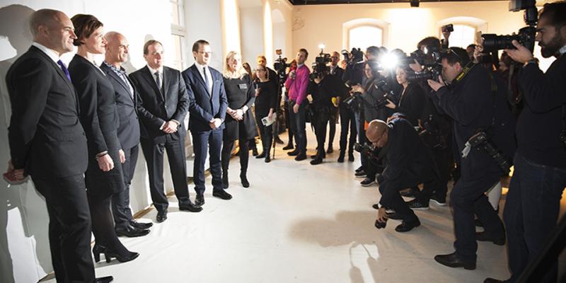 Fredrik Reinfeldt, Anna Kinberg Batra, Micael Bindefeld, Stefan Löfven och H.K.H. Prins Daniel