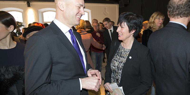 Fredrik Reinfeldt och Mona Sahlin