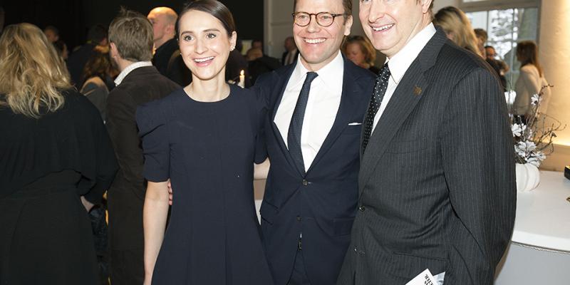 H.K.H Prins Daniel med USA:s ambassadörspar Mark och Natalia Brzezinski